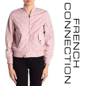 French Connection Jackets & Coats - French Connection Pink Bomber Jacket FCUK NWT L